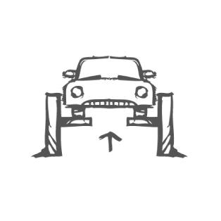 Автомобиль на подъёмнике